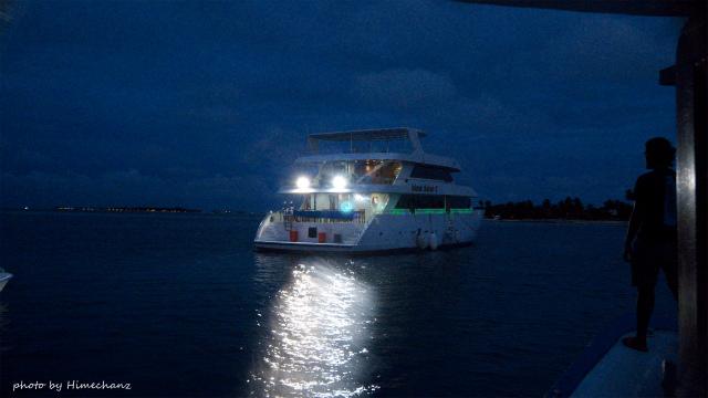 本船に戻るともぉ真っ暗でしたw