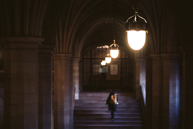 Lights and Staircase, Knox College, Toronto