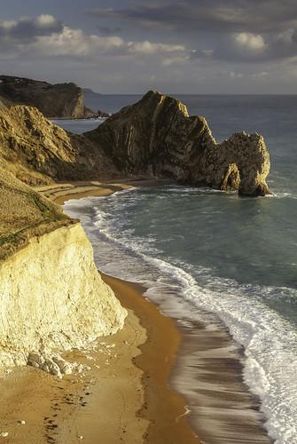 door sea england cliff coast cliffs dorset dor jurassic lulworth durdle