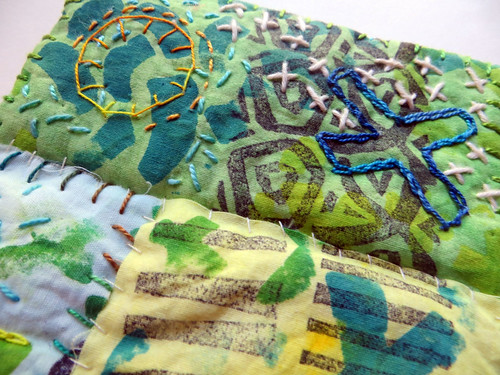 Big Smooch ~ art quilt (detail)