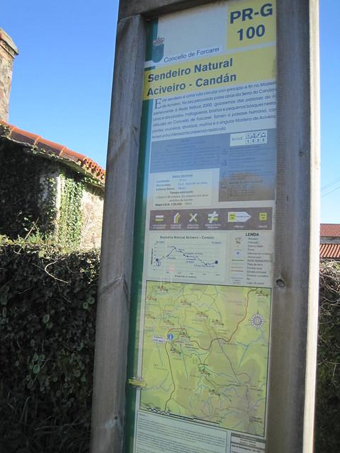 Panel Informativo PR-G 100 Sendeiro Natural Aciveiro - Candán