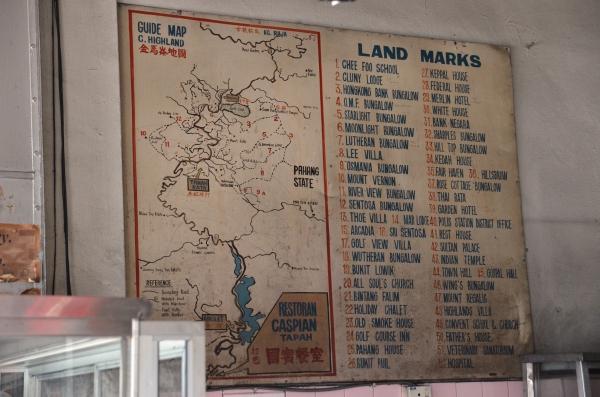Old Cameron Highlands Map