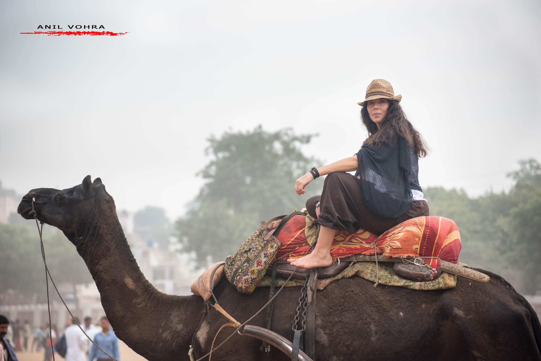 Visitors ar Pushkar Fair