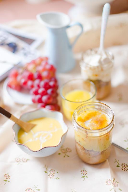 Mason Jar Apple Crisp with Custard