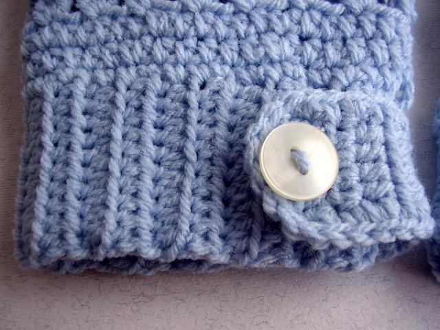 guanti senza dita lana acrilica azzurra 4