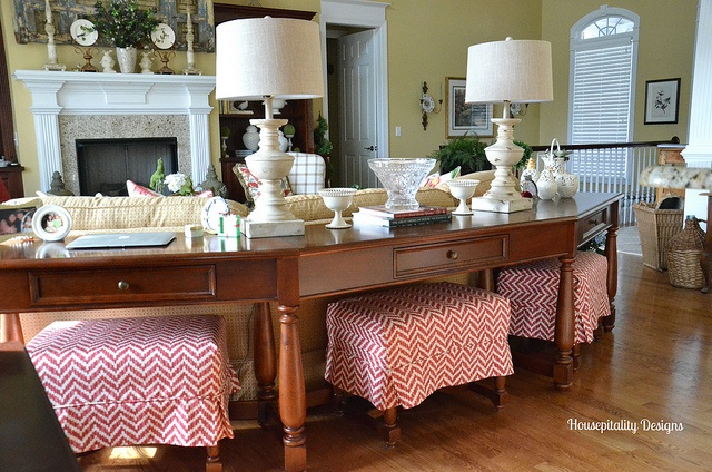 Slipcovered Ottomans-Housepitality Designs