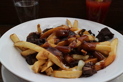 meal(0.0), meat(0.0), cheese fries(0.0), produce(0.0), full breakfast(0.0), poutine(1.0), canadian cuisine(1.0), french fries(1.0), food(1.0), dish(1.0), cuisine(1.0),