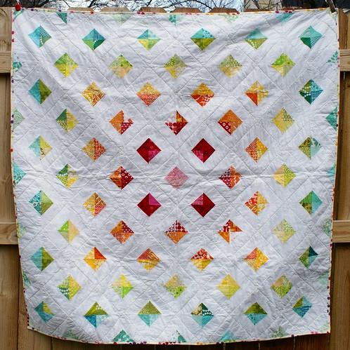 rainbow charm quilt (1)