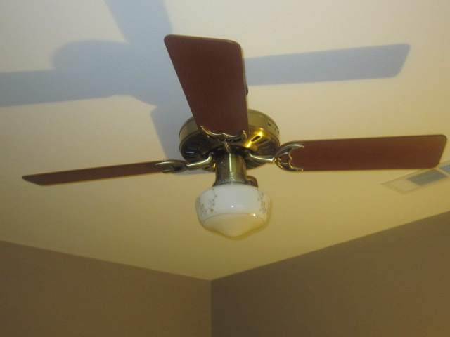 Vintage ceiling fan install in new home vintage ceiling fans a 48 antique brass hunter summer breeze from 1986 nice vintage globe and really powerful it moves a ton of air mozeypictures Choice Image