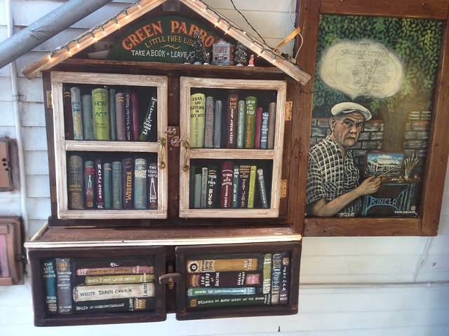 Little Free Library - Green Parrot in Key West