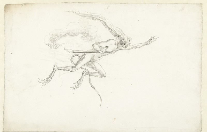 Cornelis Saftleven - Flying creature, mid 17th century