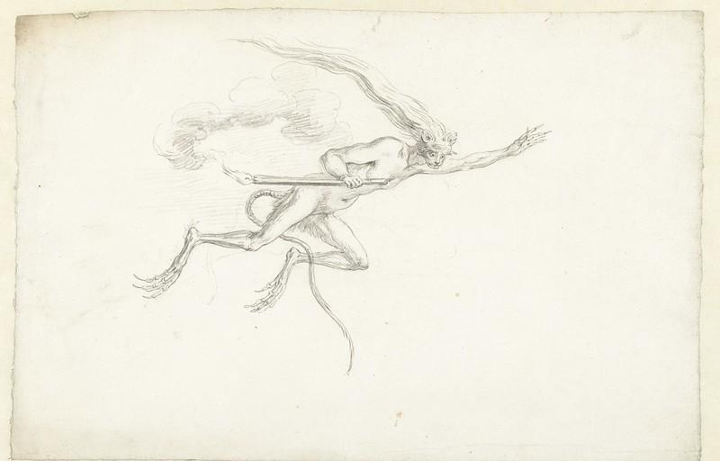 Cornelis Saftleven - Flying creature, mid 17th century
