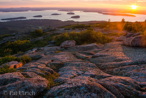 sunrise landscape islands maine granite summit mountdesertisland acadianationalpark earlylight mountcadillac ©patulrich