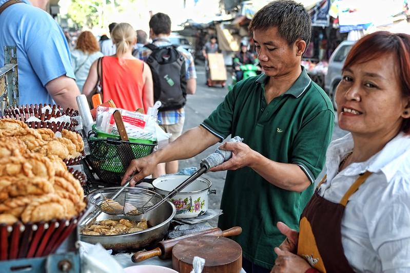 Making the Curry Puffs, Bangrak, Bangkok, Thailand