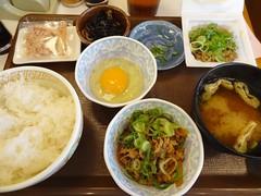 Natto Breakfast Set @Sukiya, Nagahara, Tokyo