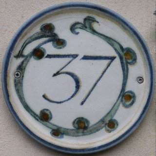 37 plate house number
