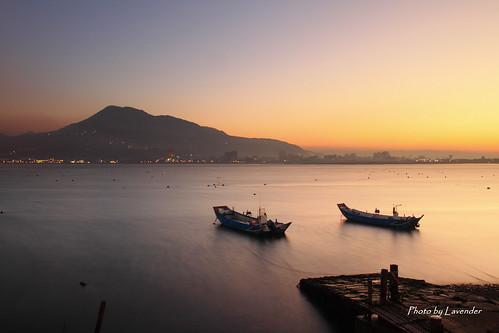sunset taiwan 夕陽 台灣 淡水 油車口 觀音山 沙崙 黑卡 色溫 新北市