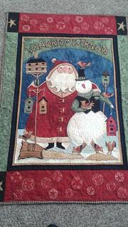 Santa panel quilt