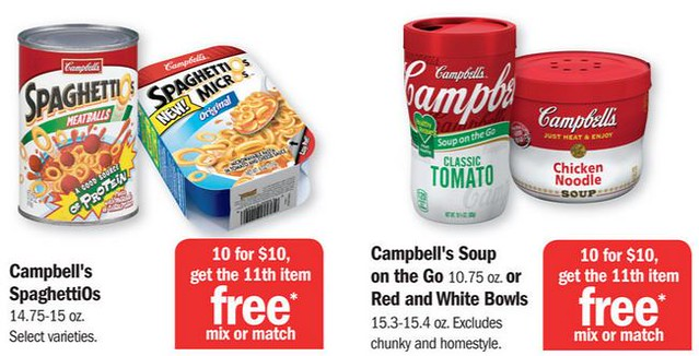 037 SpaghettiOs MicrOs and 045 Campells Soup on the Go at Meijer