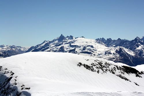 Vue vers la Meije et le Glacier des Deux Alpes