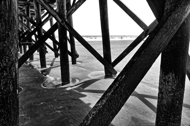 Pier pilings, Isle of Palms, South Carolina