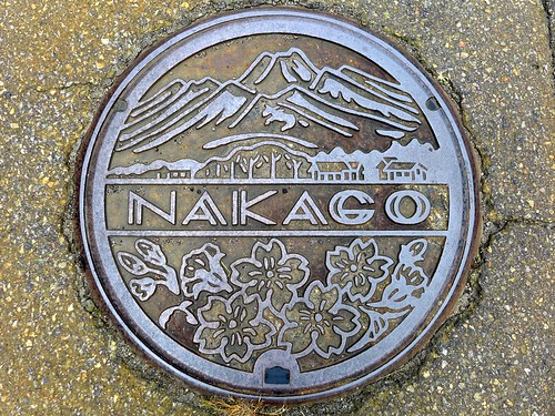 Nakago Nigata, manhole cover (新潟県中郷村のマンホール)