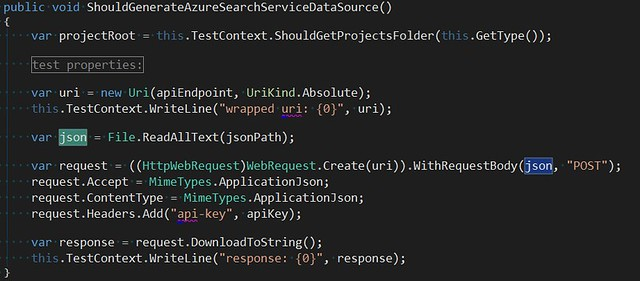 Azure Search of JSON Blobs