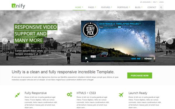 WrapBootstrap Unify v1.7 - Responsive Website Template