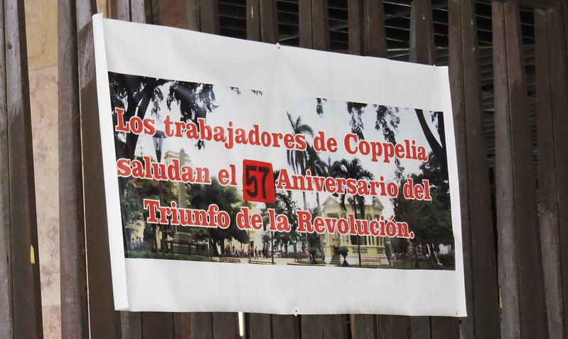 Propaganda on the exit of heladeriaa
