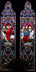 Christ raises Jairus's daughter and St Peter raises Dorcas by Thomas Wilmshurst, 1855