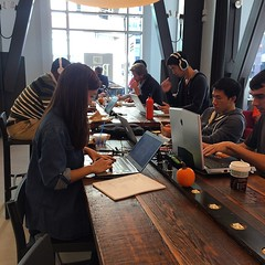 A cafe and startup work area it seems #sanfrancisco