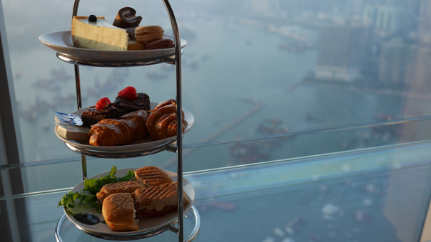 Teatime at sky100 Hong Kong Observation Deck