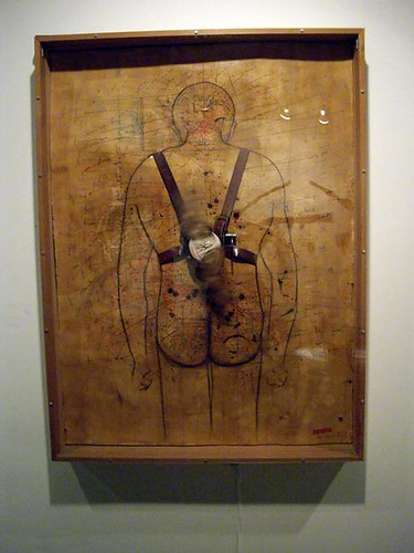 "Victor Cartagena, ""Untitled (Man with Wings I, brown)"" (mixed media)"