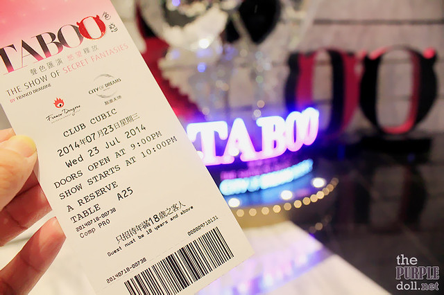 Ticket to Taboo The Show of Secret Fantasies City of Dreams Macau