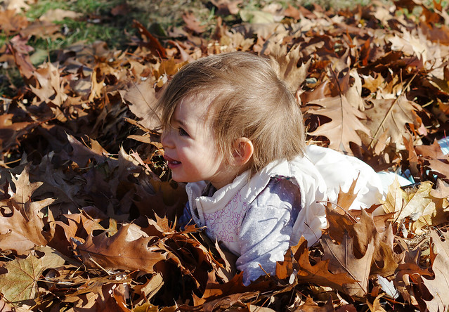 Lydia in the Leaves