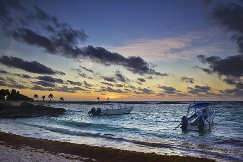 sunrise mexico yucatan caribbean
