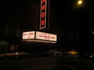 faux movie theater, Batman vs. Superman filming