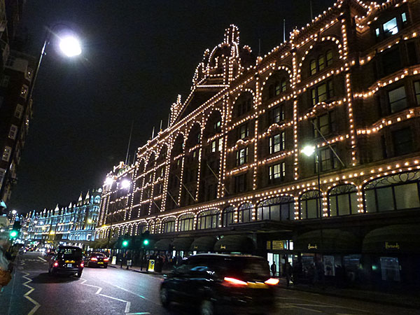 harrods illuminé
