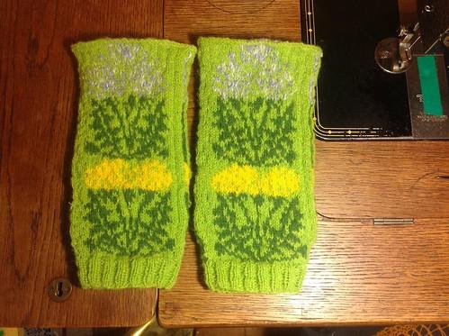 Dandelion mitts