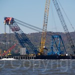 I Lift NY Super Crane at New NY Bridge Project Site on the Hudson River, New York
