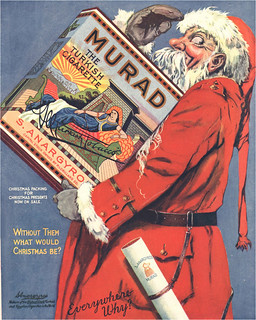 What would Christmas be without Murad Cigarettes? Santa loves them too!