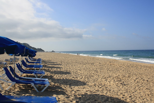 Vista de la playa. Zahara de los atunes.