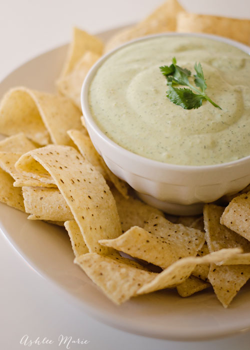 I always make a double batch of this creamy jalapeno dip because everyone loves it so much its gone way to fast, a copycat from Chuys restaurant