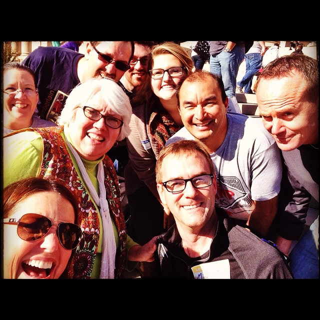 After-the-giant-group-photo...fun on the steps of the @nelsonatkins!. :smiley: #edcampkc #moedchat