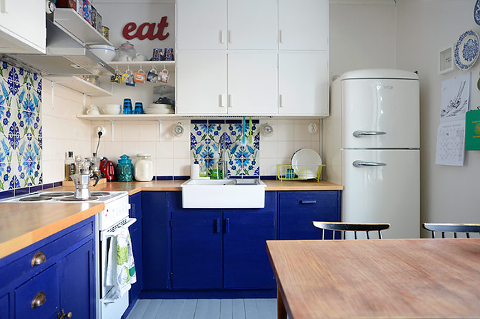 Colors of Our Home: Blue Kitchen