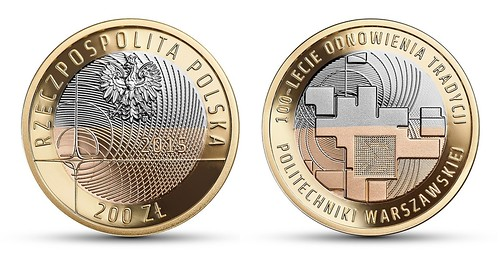 Poland Coin on the centenary of Warsaw Polytechnic