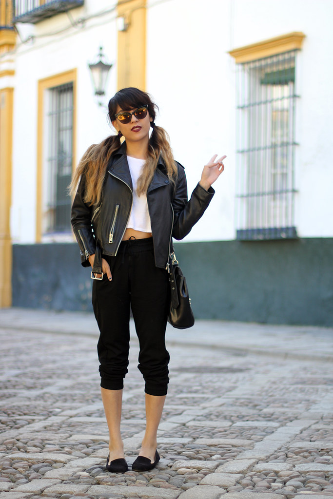 Sevilla Seville Spain, All Saints Balfren Jacket, Zara joggers