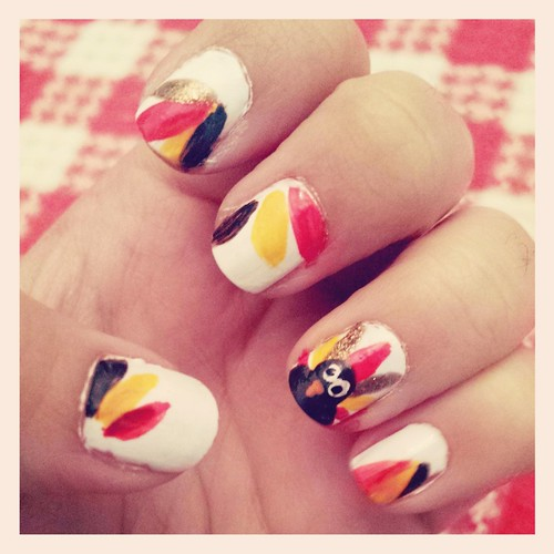 Turkey Day nails