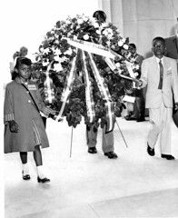 Children Barred From School Lay Wreath: 1957