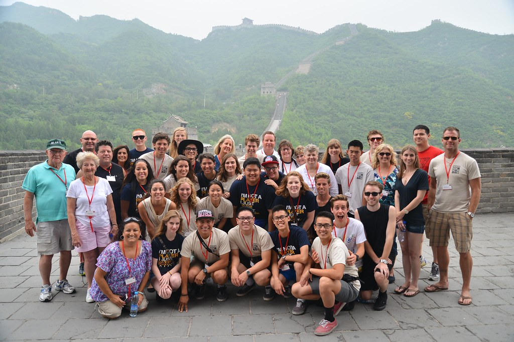 Fountain Valley High School Troubadours at the Great Wall of China